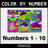 Color By Number 1-10 - Pirates