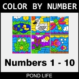 Color By Number 1-10 - Pond Life
