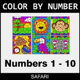Color By Number 1-10 - Safari