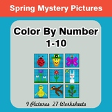 Spring: Color By Number 1-10 | Spring Mystery Pictures