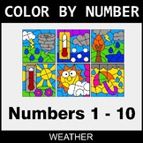 Color By Number 1-10 - Weather