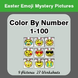 Color By Number 1-100 | Easter Emoji Mystery Pictures