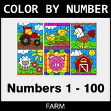 Color By Number 1-100 - Farm