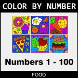 Color By Number 1-100 - Food