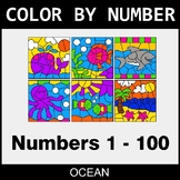 Color By Number 1-100 - Ocean