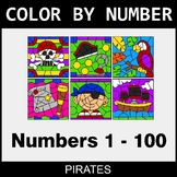 Color By Number 1-100 - Pirates