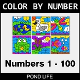 Color By Number 1-100 - Pond Life