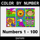 Color By Number 1-100 - Safari