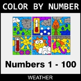 Color By Number 1-100 - Weather