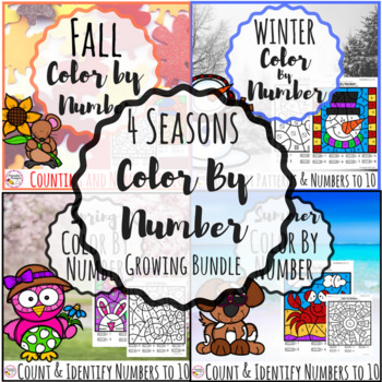 Color By Number- 4 Seasons