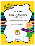 Color-By-Numbers:  Addition Fact Review
