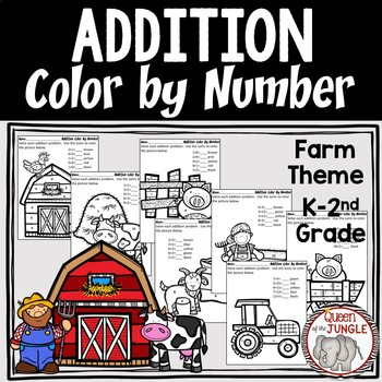 Addition No Prep Color By Number