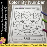 Color By Number Addition For Math Remediation Sums to 10 T