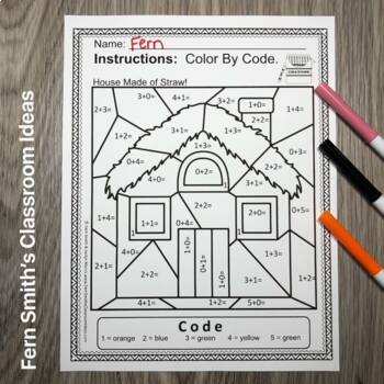 Color By Number Addition For Math Remediation Sums to 5 ...