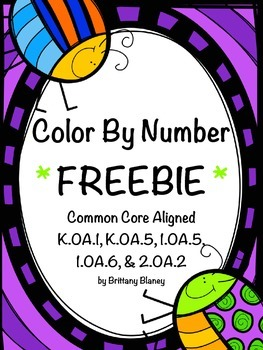 Color By Number Addition Freebie