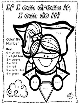 Color By Number - Addition & Subtraction! Full Version {English & Spanish}