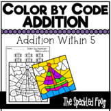 Color By Number:  Addition Within 5:  Mixed Themes