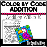Color By Number:  Addition within 10:  Mixed Themes