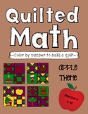 Color By Number - Apple Quilt (Numbers 1-10)