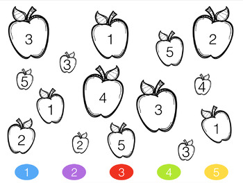Color By Number- Apples