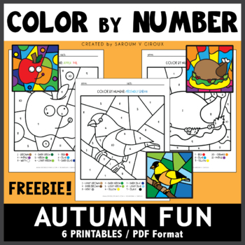 Color By Number: Autumn Fun (Set #1)