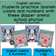 Color By Number Back To School Picture Day Animals! English version