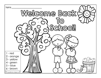 Color By Number (Back to School)