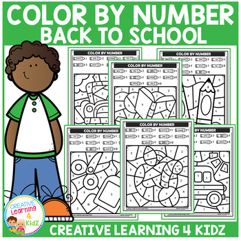 Color By Number: Back to School