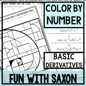 Color By Number (Basic Derivatives)