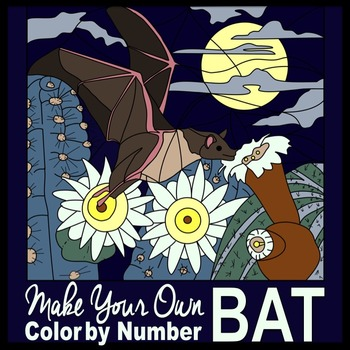 Color By Number Bat (Editable)