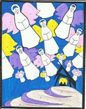 Color By Number Christmas Angels