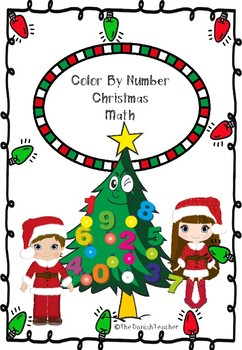 Color By Number Christmas Math