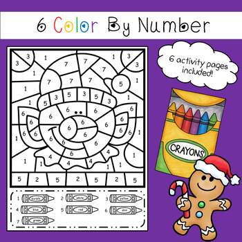 Color By Number - Christmas Theme