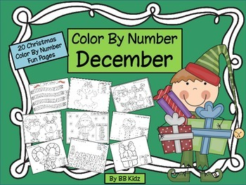 Color By Number Code Christmas - 20 Days of Color By Number Fun