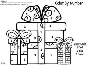Color By Number Christmas {25 days of Christmas Fun!} Kindergarten Math