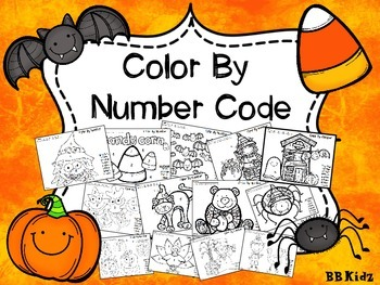Color By Number Code Fall / Halloween / Turkey
