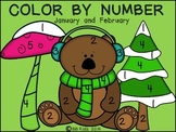 Color By Number Code January / February - {Winter, Valenti