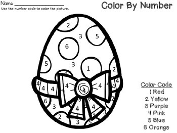 Color By Number Code Spring