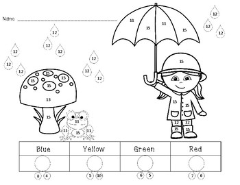 Color By Number - Complete the number bond then color by number (13 printables)