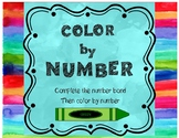 Color By Number - Complete the number bond then color by n