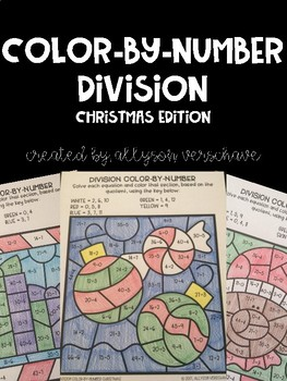 Color-By-Number Division: Christmas Edition