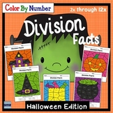 Halloween Division Color By Number