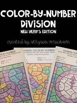 Color-By-Number Division: New Years Edition