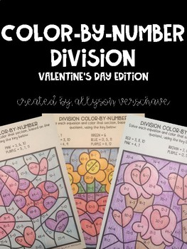 Color-By-Number Division: Valentine's Day Edition