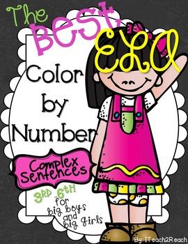 Color By Number ELA Complex Sentences