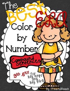Color By Number ELA Compound Sentences