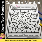 Color By Number Easter Numbers and Teen Numbers Kindergarten Worksheets