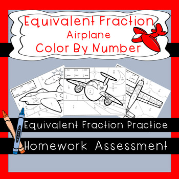 Color By Number Equivalent Fractions