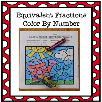 Color By Number Equivalent Fractions TEKS 4.3C Spring Theme Coloring Pictures