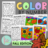 Color By Number: Fall Edition